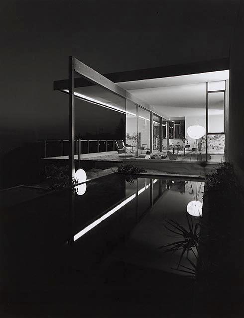 ARTIST:  Julius ShulmanTITLE:  Chuey House(Richard Neutra, architect)  1960MEDIUM:  recent gelatin silver printSIZE:  h: 24 x w: 20 in