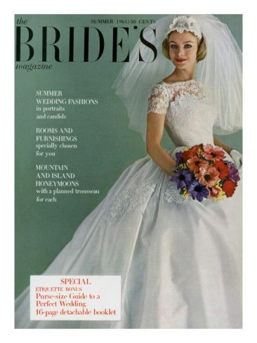 Brides Cover April 1961 Poster Print By Peter Oliver At The Condé Nast Collection