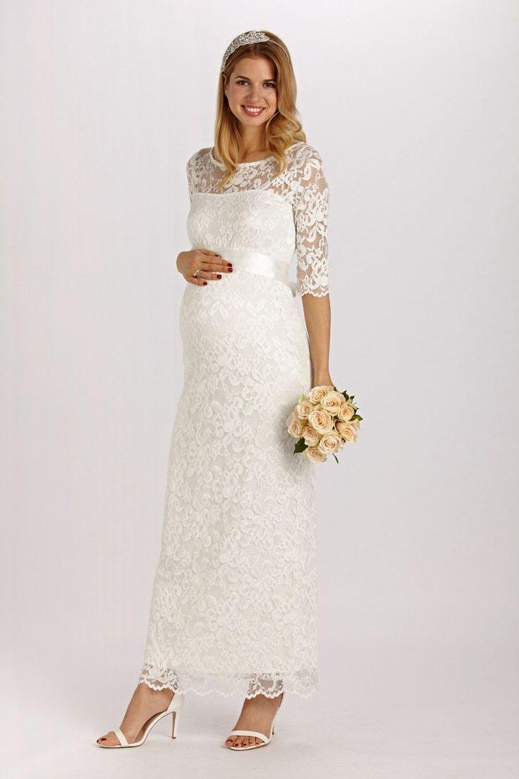 Spitzen Brautkleid lang