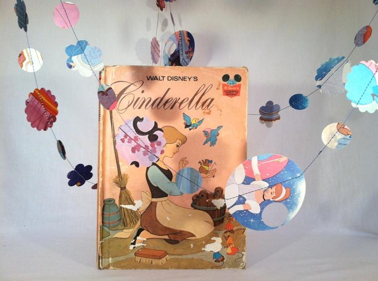Vintage Cinderella paper garland