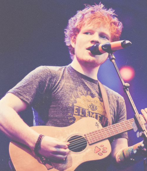 Ed Sheeran. Gah! I'm a such a sucker for that red hair.