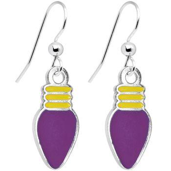Light-Purple Christmas Light Dangle Earrings | Body Candy Body Jewelry #bodycandy