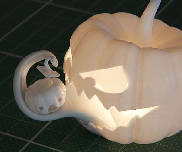 3d printed jack olantern eating 3d printed pumpkin maybe something for 3d printer