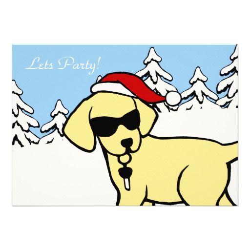 """De capricieuze en grappige die Cartoon van de Labrador door Naomi Ochiai van Japan wordt gecre?ërd.  Het leuke Gele ontwerp van de Cartoon van Labrador met het Pet van de Kerstman.  Nice voor hondenliefhebbers die van Gele Labradors voor Kerstmis houden.  De schaduwen maken zo koel Labrador kijken!!  U kunt tekst en meer aanpassen! <br> <a href=""""http://www.zazzle.com/happylabradors/gifts?cg=196811834152819739""""><img ..."""