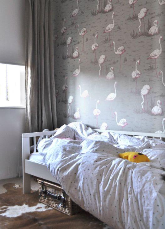 pink + grey + flamingo wallpaper