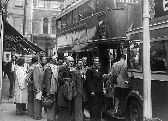 Staff from Stockholm Transport visiting London Transport 1948 | Flickr - Photo Sharing!
