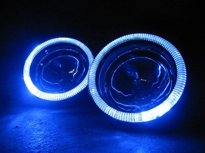6x Blue Led Campagna T Rex Addon Angel Eye Headlamp Headlight Halo Rings Angel Eyes Fog Lamps Led Replacement Bulbs