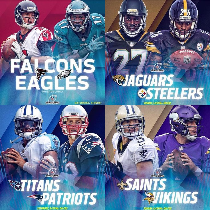 Who ya got in the AFC and NFC Championship? Comment below and vote on our Instagram story!  #Atlanta #Falcons #AtlantaFalcons #Philadelphia #Eagles #PhiladelphiaEagles #Tennessee #Titans #TennesseeTitans #NewEngland #Patriots #NewEnglandPatriots #Jacksonville #Jaguars #JacksonvilleJaguars #Pittsburgh #Steelers #PittsburghSteelers #NewOrleans #Saints #NewOrleansSaints #Minnesota #Vikings #MinnesotaVikings #NFL #SuperBowl #Playoffs #DivisionalRound