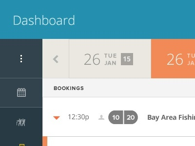 Flat UI design example for a dashboard header.