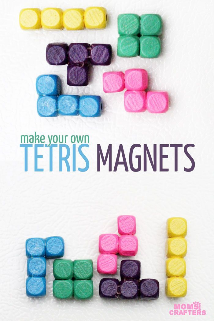 Are you a Tetris fan or do you know one? This Tetris craft will amaze you! Tetris pieces magnets are quick and easy to make and are a great cheap DIY gift.
