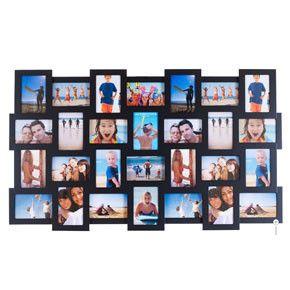 studio 28 multi frame black multiple aperture frame - Multiple Photo Frame
