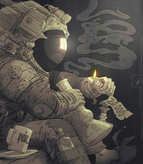 Humo en el espacio