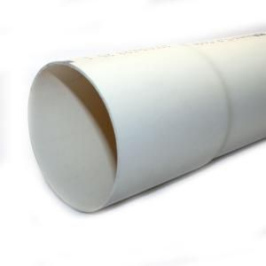 Jm Eagle 4 In X 10 Ft Pvc Sewer And Drain Pipe 1610 At