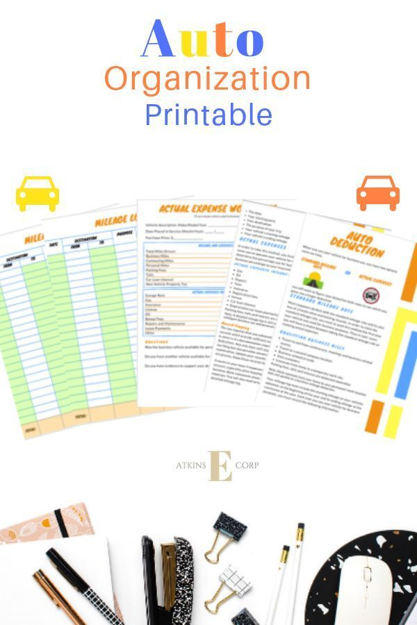 Keep Up With Your Auto Expenses The Deduction Worksheets For Self Employed And Small Business This Bundle Helps You Determine If Will Benefit