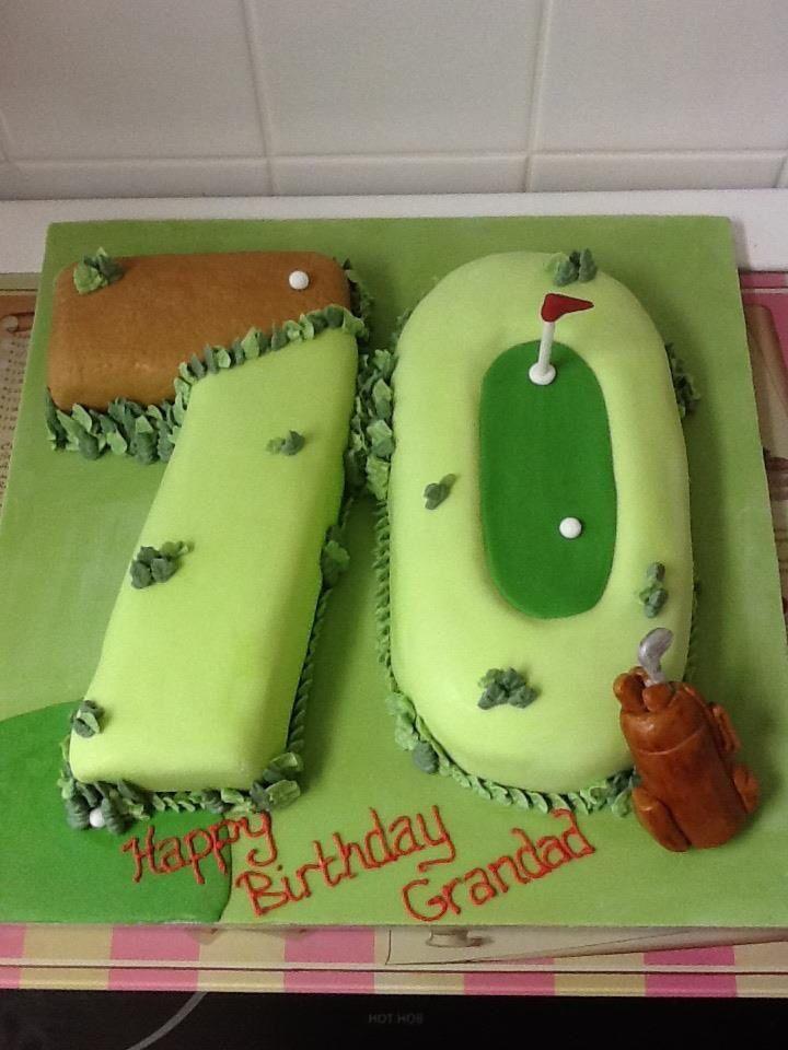 Number 70th Golf Cake Liza S Birthday Celebration Cake