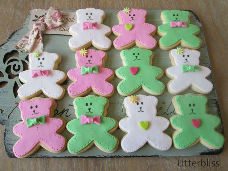 Teddy bear biscuits.