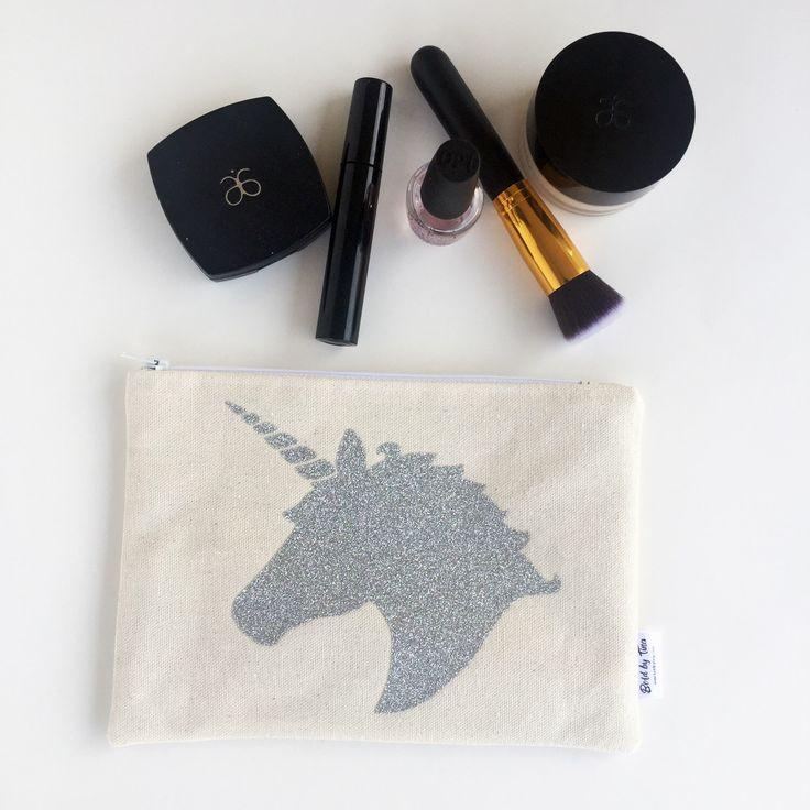 Unicorn Lover Gift - Unicorn Makeup Bag - Cosmetic Bag - Birthday Gift for Her by BOLDbyTina on Etsy https://www.etsy.com/uk/listing/501773072/unicorn-lover-gift-unicorn-makeup-bag