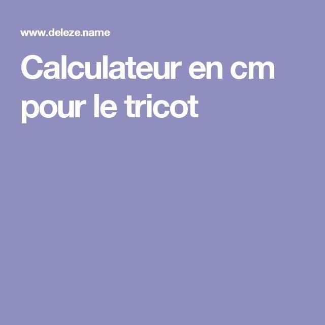 Calculateur en cm pour le tricot