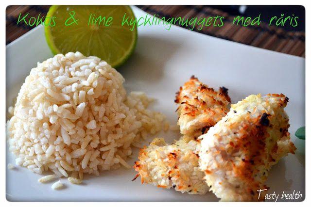 Tasty Health: Kokos & lime kyckling nuggets med råris