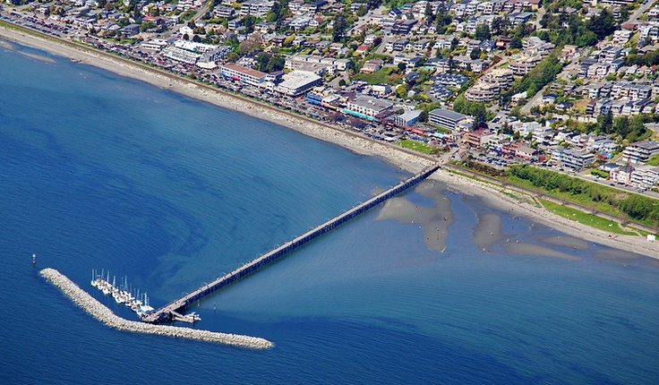 Gorgeous #WhiteRock Aerial Photo - OCEAN VIEWS from the Hillside Homes above The Pier