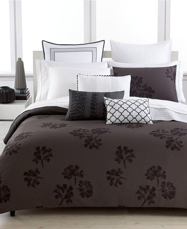 luxury feel vera wang pom poms king duvet cover set