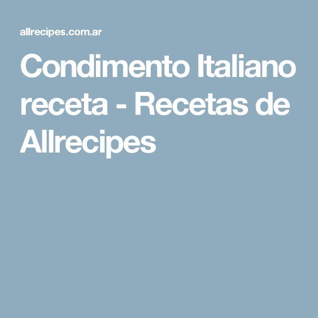 Condimento Italiano receta - Recetas de Allrecipes
