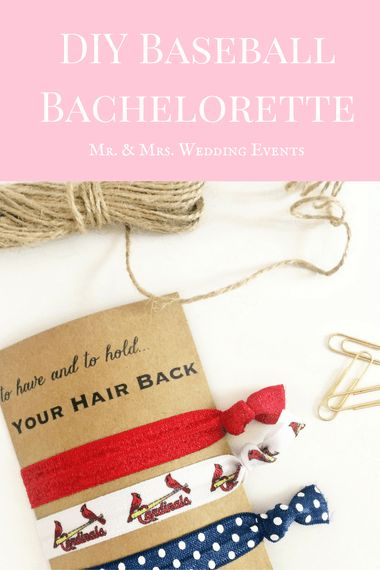 DIY Baseball Bachelorette Party - Mr. & Mrs. Wedding Events, St. Louis MO                                                                                                                                                                                 More