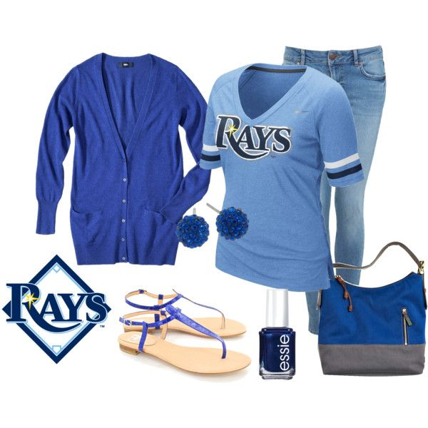 """""""tampa bay rays outfit"""" by carolinemarie114 on Polyvore"""