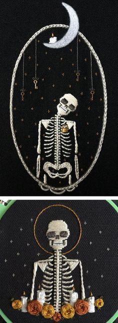 Skeleton Embroiderie