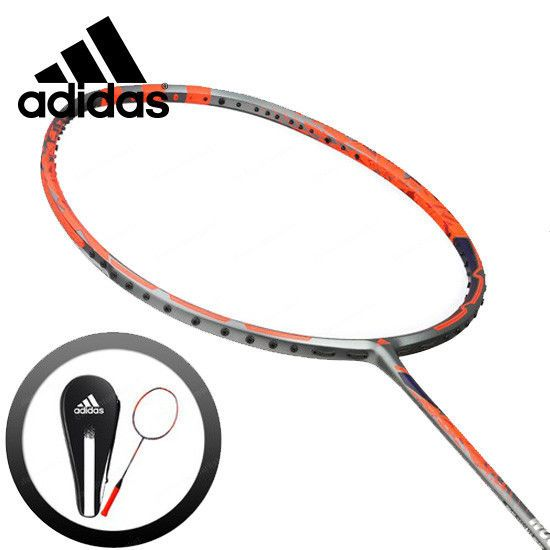 adidas Badminton Racket WUCHT P5 Red Black Racquet String with Cover RK704511 #adidas