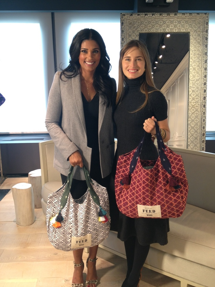 Rachel Roy and FEED Projects Founder and CEO Lauren Bush Lauren introduce a limited-edition tote bag, the FEED 100 India Bag, created to help fight child hunger in India. For every bag sold, 100 school meals will be provided to children in India. In working together, Rachel Roy and Lauren Bush Lauren hope to empower people to take part in alleviating hunger in India and to highlight to consumers that even small actions, including their purchases, can make a difference.