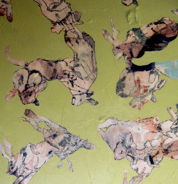 Elementary Wisdom: Sweet Denial (detail), mixed media on canvas, 1000 x 1000mm…
