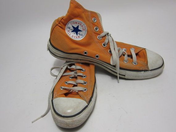 converse 80s. vintage converse all star mens shoes orange by thepantages on etsy, $47.00 80s r
