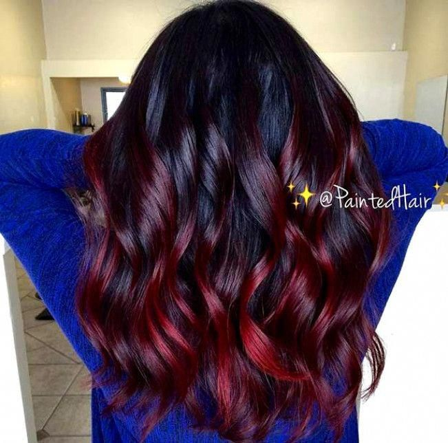 60 Best Ombre Hair Color Ideas For Blond Brown Red And Black Hair Hair Styles Dark Red Hair Color Ombre Hair