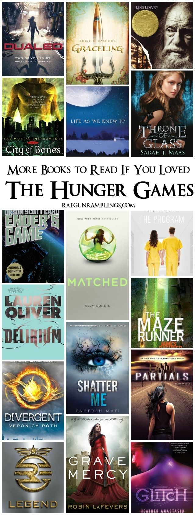 More Books To Read If You Loved The Hunger Games. I read a couple of these and they were great.