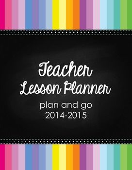 Teacher Lesson Planner; editable; includes Common Core, small guided reading group, writing workshop, math small group, reading workshop, $