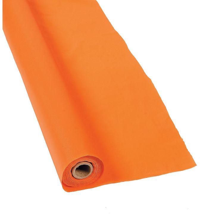 Orange Tablecloth Roll - #OrientalTrading #HalloweenWishList