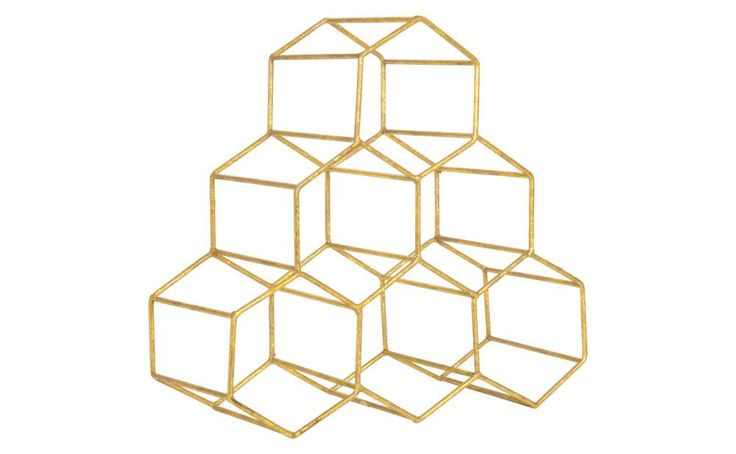 House your favorite varietals in style. Our Hex Wine Rack accommodates six bottles of wine in six-sided hexagonal shapes. A subtle coincidence? We think not. Iron Textured Metallic Gold Finish