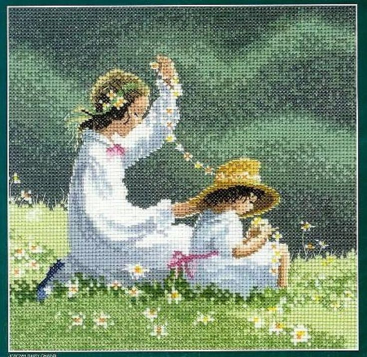Daisy Chains - 1/3 Solo Patrones Punto Cruz (pág. 390)   Aprender manualidades es facilisimo.com