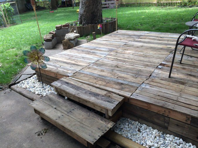 Best 25 pallet decking ideas on pinterest pallet patio for What to make out of those old wood pallets