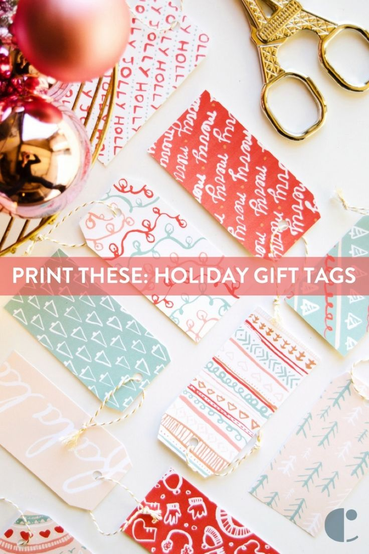 Head over to the blog for these free printable gift tags, and get ready for gift-giving this holiday season.