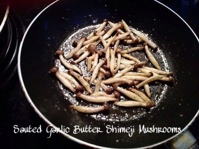 Sauted Shimeji Mushrooms