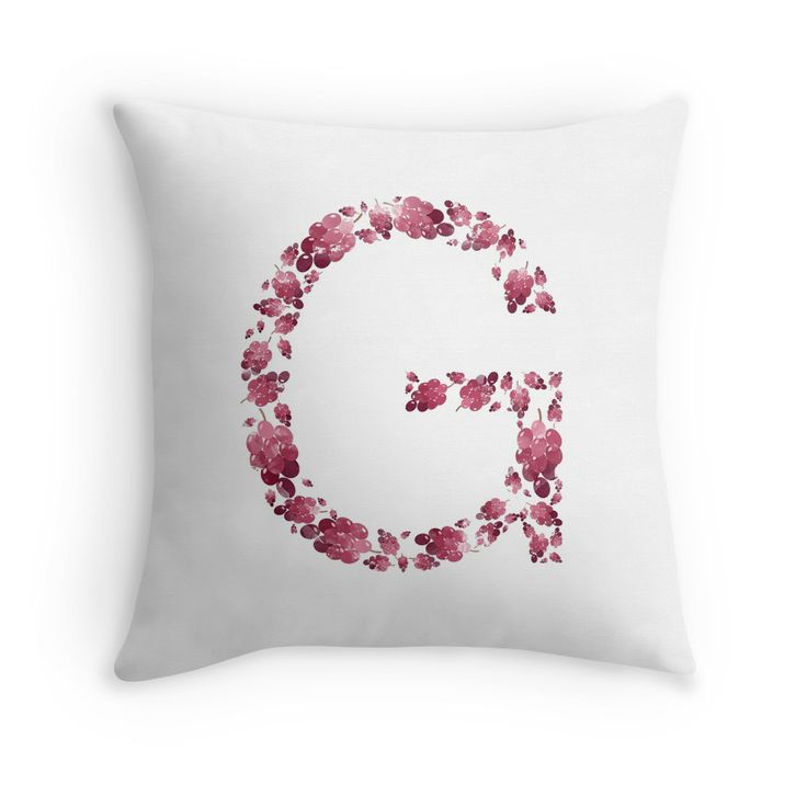 G for Grape Pleasure #redbubble #etsy #pillow #sticker #stickers #iphone #macbook #grapes #summer #fruits #purple #makeup #bag #shopping #case