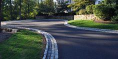 asphalt driveway stone edging