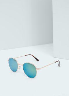 Ronde zonnebril met spiegelglazen