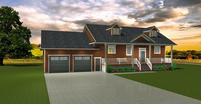 House Plan 2009463 Ranch Style Bi Level Plan By Edesignsplans Ca Great For Country This Plan Has A Mudroom With In 2020 One Level Homes Bi Level Homes House Plans
