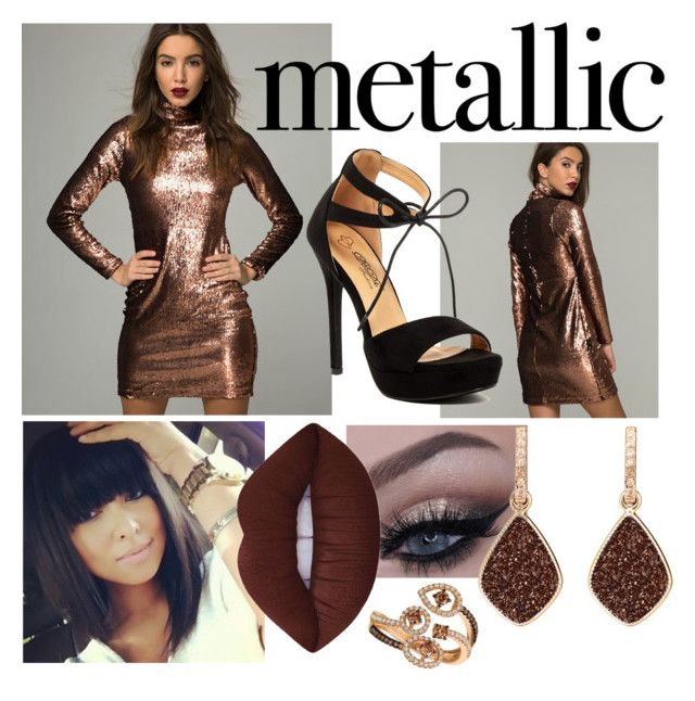 """Magic in Metallics"" by gagirl42 ❤ liked on Polyvore featuring LE VIAN, Lime Crime and H.Azeem"