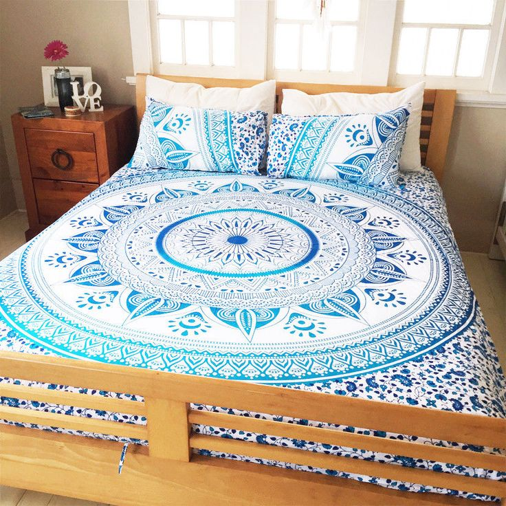 Indian Mandala King Size Comforter Duvet Donna Quilt Blanket Cover Bedding Set | eBay