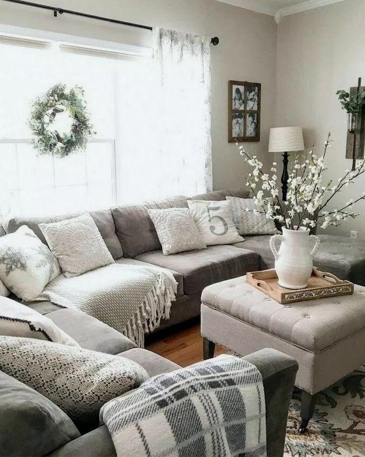 46+ rustikale Bauernhaus Wohnzimmer Design und Dekorationsideen für Ihr Zuhause 14