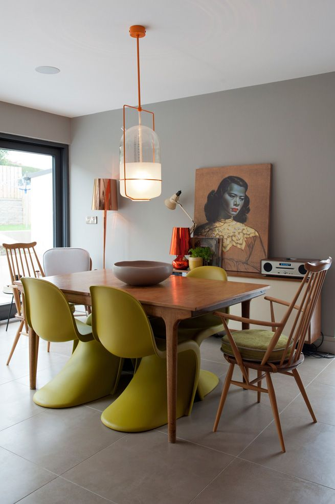 Mixing old and new - is this style for you? Get the look with the Vitra Panton Chairs http://www.nest.co.uk/search/vitra-panton-chair